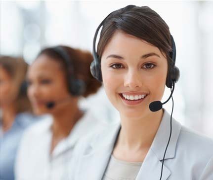A local call center representative awaits your call